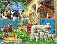 Домашни животни - Пъзел в картонена подложка - пъзел