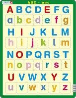 Английската азбука - Пъзел в картонена подложка - пъзел