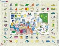 Научи английски език VI - Пъзел в картонена подложка -