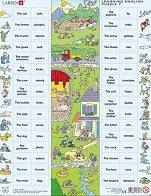 Научи английски език VII - Пъзел в картонена подложка -