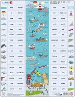Научи английски език VIII - Пъзел в картонена подложка -