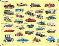 Ретро автомобили - Пъзел в картонена подложка - пъзел