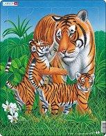 Тигри - Пъзел в картонена подложка - пъзел