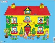 Къщичка - Пъзел в картонена подложка - пъзел