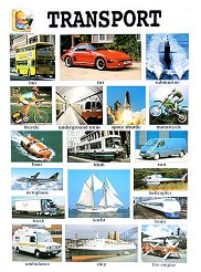 Transport - стенно учебно табло на английски език - 52 x 77 cm -