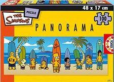 Семейство Симпсън - Панорамен пъзел -