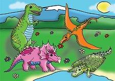 Веселите динозавърчета - пъзел