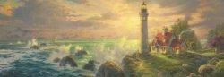 """Морският фар - панорама - Томас Кинкейд (Thomas Kinkade) : От колекцията """"Premium Quality"""" - пъзел"""
