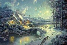 Коледна месечина - Томас Кинкейд (Thomas Kinkade) -