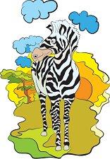 Африкански животни - Зебра - пъзел