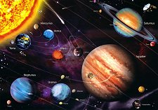 Слънчевата система - Неонов пъзел - пъзел