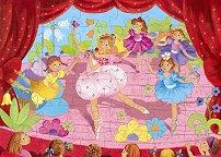 Балерина с цвете - Детски пъзел в кутия с нестандартна форма - пъзел