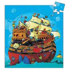 Корабът на Барбароса - Детски пъзел в кутия с нестандартна форма - пъзел