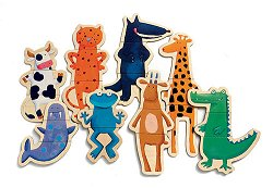 Щури животни - Осем дървени фигури с магнит - играчка