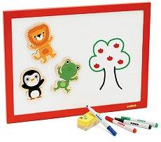 Магнитна дъска - С маркери и гъба - играчка