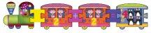 Математическо влакче - Образователен голям детски пъзел - пъзел