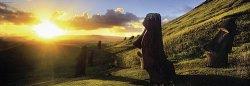 """Великденският остров - панорама - Колекция """"Александър Фон Хумболт"""" (Alexander von Humboldt) - пъзел"""