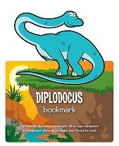 Разделител за книга с динозаври - Диплодок -