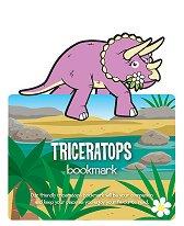 Разделител за книга с динозаври - Трицератопс -
