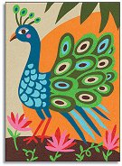 Оцветявай с цветен пясък - Птиците на Рая - Творчески комплект за рисуване - творчески комплект