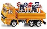 """Камионче с пътни знаци - Метални играчки от серията """"Super: Local community services"""" - количка"""