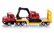 Камион с ремарке и хидравличен багер - играчка