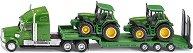 Камион с ремарке и два трактора - играчка