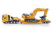 Камион с ремарке за тежки товари и хидравличен багер - играчка