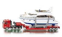 Камион с ремарке и яхта - играчка