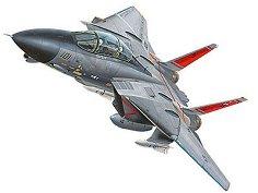 Военен изтребител - Tomcat F-14 - Сглобяем авиомодел - макет