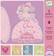 Шаблони за рисуване - Принцеси - детски аксесоар
