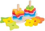 Формички - Rainbow - Дървена играчка за нареждане - играчка