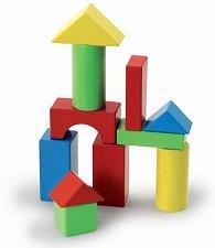 Дървени кубчета - Гигант - Конструктор с дървени фигури - играчка