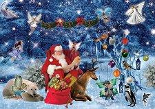 Дядо Коледа се подготвя за път - пъзел