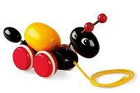 Мравка - Дървена играчка на колелца -