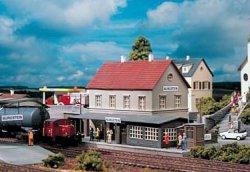 ЖП гара - Burgstein Station - Сглобяем модел - макет