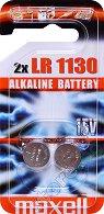 Бутонна батерия SR54 / LR1130 - Алкална 1.5 V - 2 броя - батерия
