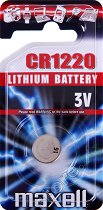 Бутонна батерия CR1220 - Литиева 3V - 1 брой - батерия