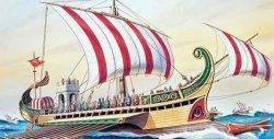 Римски военен кораб - Circa - Сглобяем модел -