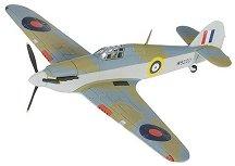 Изтребител - Hawker Hurricane 1B W9220 - Метален умален авиомодел -