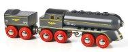 Детски влак с парен локомотив - Speedy bullet train - Дървена играчка - играчка