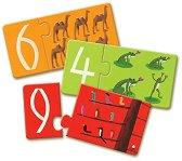 Цифри - Десет образователни пъзела за най-малките - пъзел