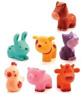 Животни от фермата - Комплект гумени играчки -