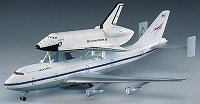 Самолет Боинг 747 със совалка - макет