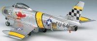 Военен самолет - F-86F Sabre - Сглобяем авиомодел - макет