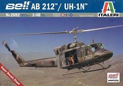 Военен хеликоптер - Bell AB 212 / UH-1N - Сглобяем авиомодел - макет