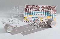 Шосе и пътни знаци - Сглобяем модел -