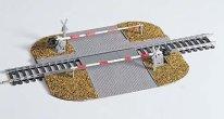Железопътен прелез с бариера - Сглобяем модел - макет