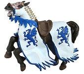 Конят на рицаря на Синия дракон - Фигура от серията Рицари - играчка