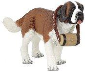 Куче - Санбернар - Фигура от серията Животните във фермата - фигура